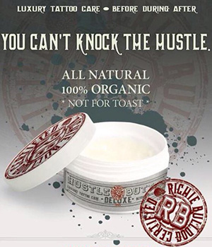 Hustle butter tattoo aftercare products for Is cocoa butter good for tattoos