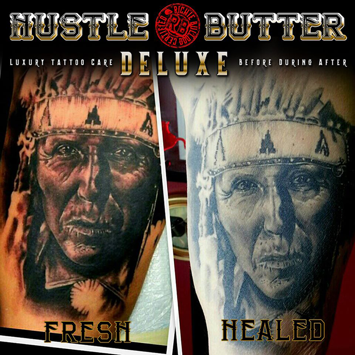 Hustle Butter Before & After